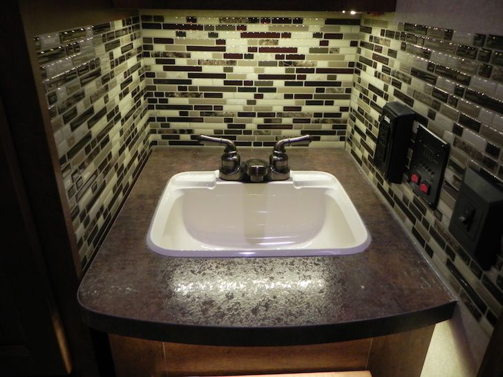 Beautiful Countertop 5th Wheel Remodel New Counter Remodeled Campers House Design Kitchen Rv Stuff