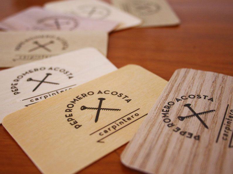 Carpenter Wooden Business Cards Wood Pinterest Business Card