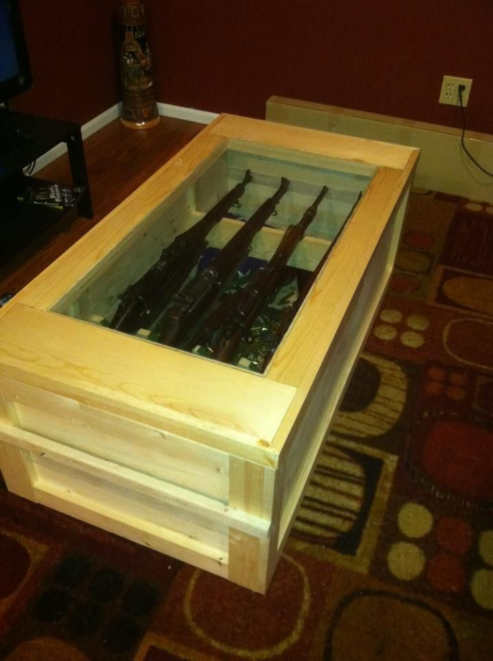 Wwii Rifle Display Case Coffee Table Making Stuff Diy Pinterest Best Display Case And