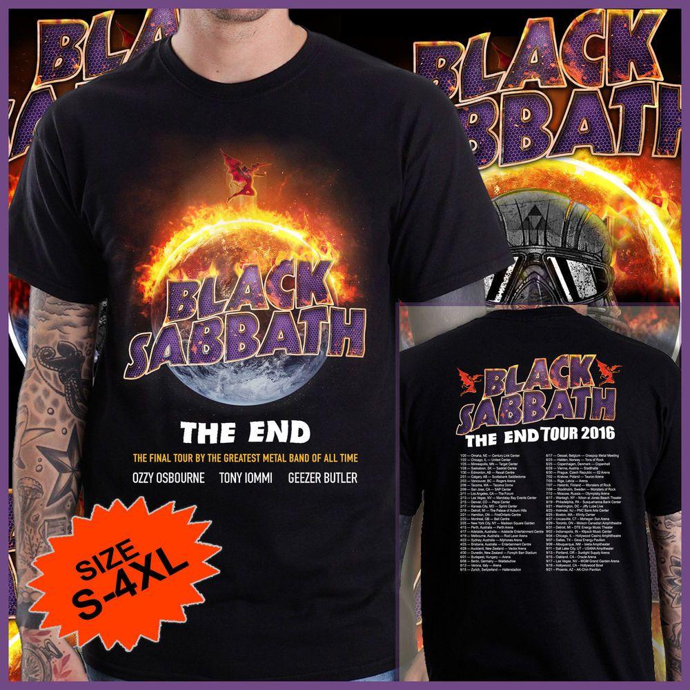 Black sabbath t shirt xxl - Black Sabbath The End Tour Dates 2016 Limited Mens T Shirt Size 2xl