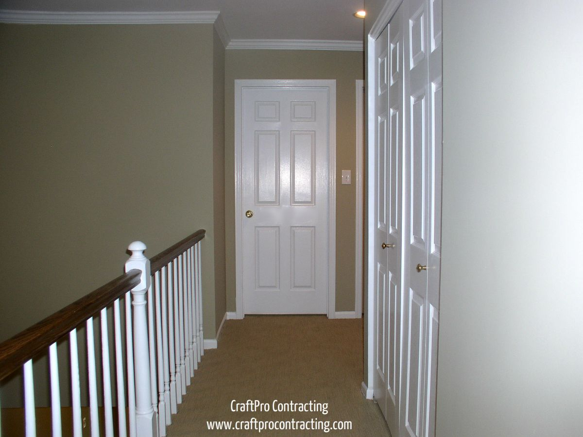 Hallway Painted In Bennington Gray Paint Color By Benjamin