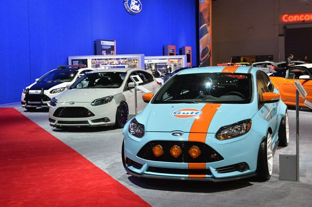 Three Of Four Focus Sts Show Up In Ford Display At Sema Ford