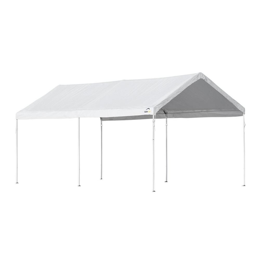 Shelterlogic 10 Ft W X 20 Ft D Canopy In White With High Grade Steel Frame And Innovative Accelaframe System For Quick Assembly White Canopy Canopy Gazebo Canopy