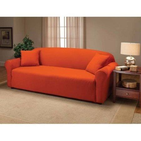 Madison Jersey Stretch Slipcover, Sofa | Products | Couch covers ...