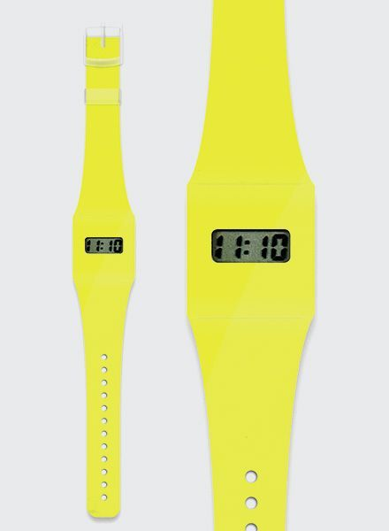 i like paper pappwatch neon gelb ausgefallene. Black Bedroom Furniture Sets. Home Design Ideas