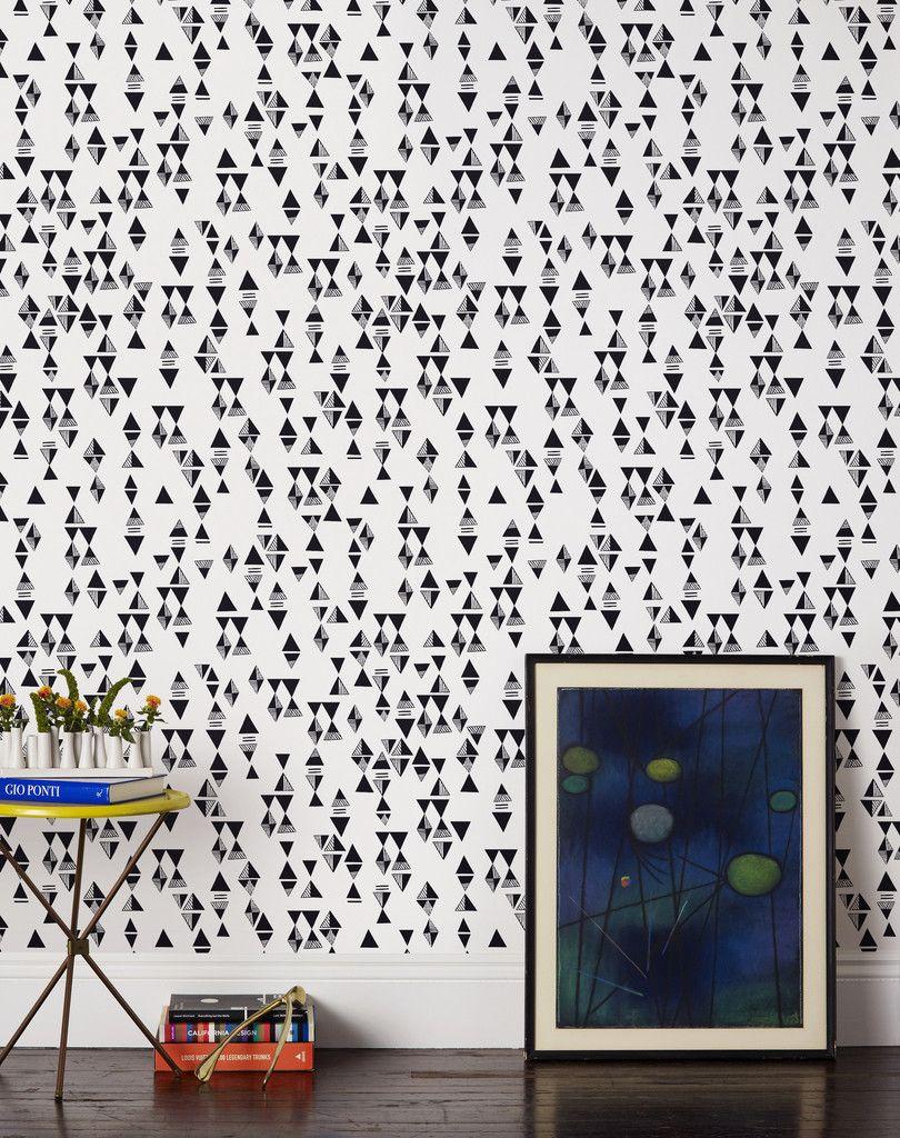 Le Papier Peint Est Il Recyclable hygge & west | triangles (white/black) | papier peint, idées