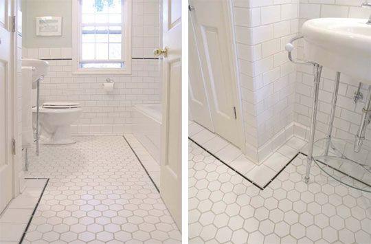 Pentagon Tiles With Square Tile Border Vintage