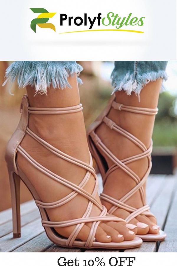26e3e510c0db Women s Thin Strap Gladiator Sandals