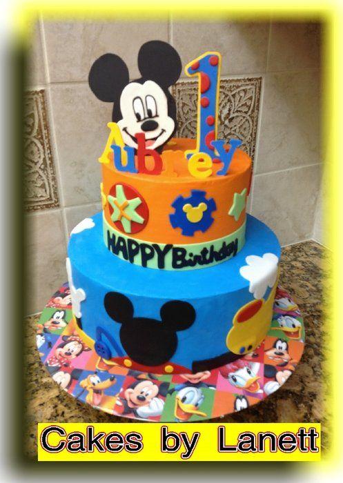 Mickeys First Birthday Cake Cake Decor Pinterest Cake Mickey