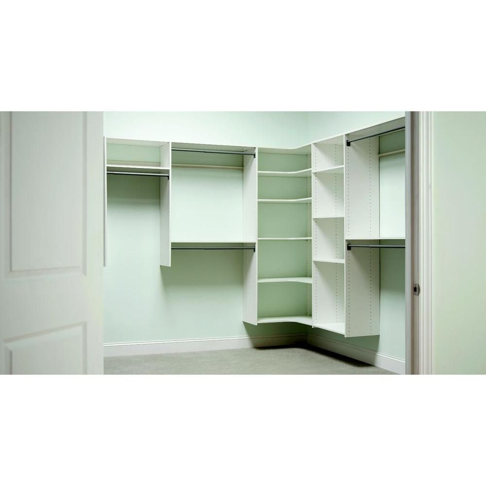 Martha Stewart Living 30 In Classic White Corner Shelf 3 Pack