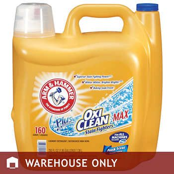 Arm Hammer Plus Oxiclean Max He Liquid Laundry Detergent Fresh Scent 160 Loads 250 Fl Oz Laundry Detergent