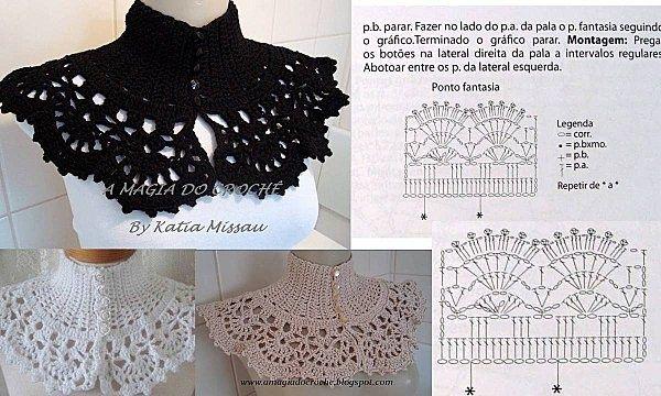 cuellos y collares de crochet/ganchillo | Pinterest | Collares de ...