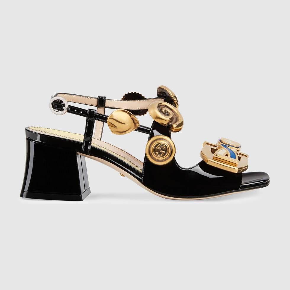 Mid heel sandals, Sandals heels