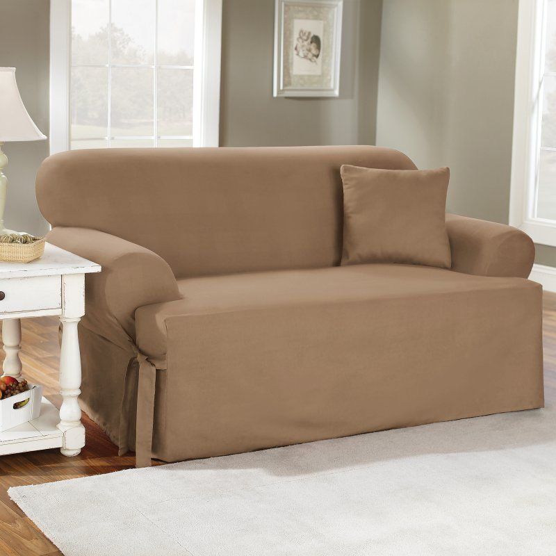 cotton recliner chair covers replacement patio slings sure fit duck t cushion loveseat slipcover products natural 28610