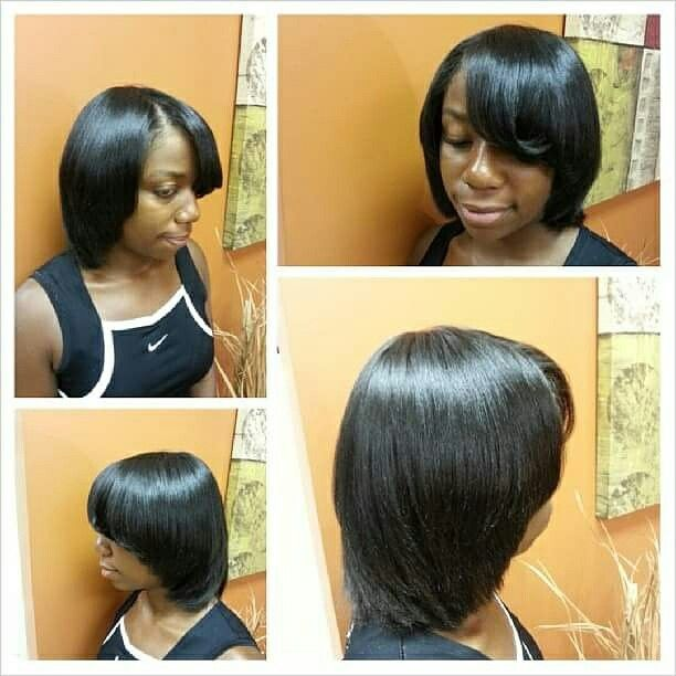 Natural Hair Flat Ironed Straight Styled By The Memphis Tn
