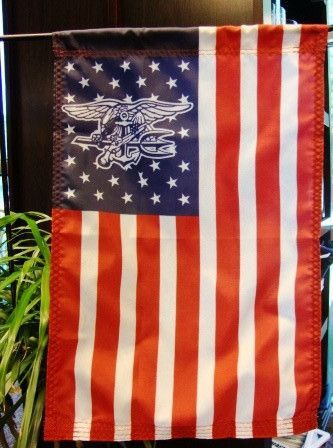 American Garden Flag With Navy Seal Trident In Stars Navy Seal Trident Flag Navy Seals