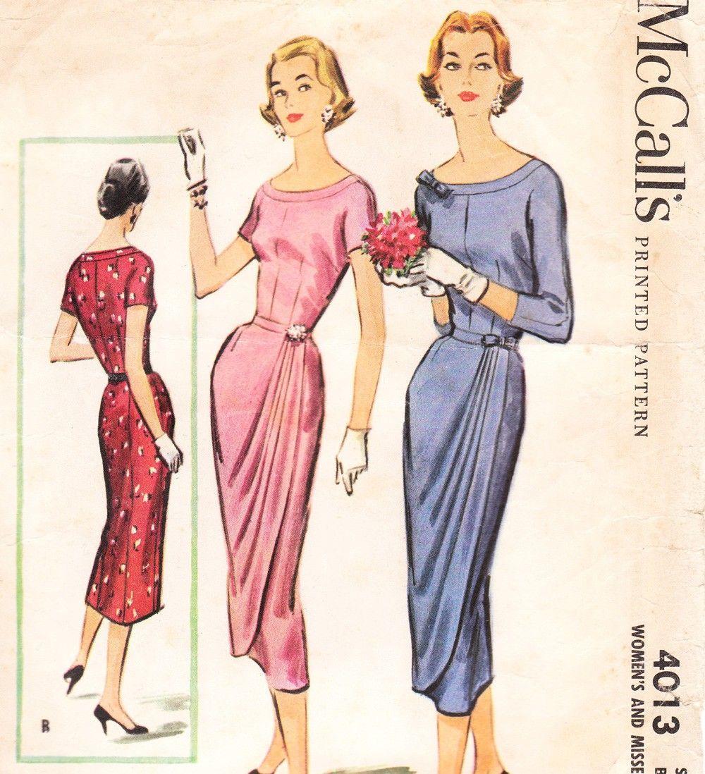 McCalls 4013 | Fashion | Pinterest | Moda vintage, Figurin y Bocetos