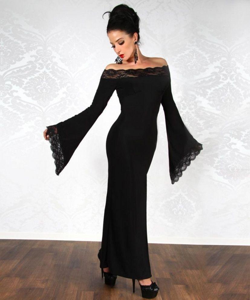 10 Schwarzes Langes Kleid in 2020   Lange kleider, Kleider ...