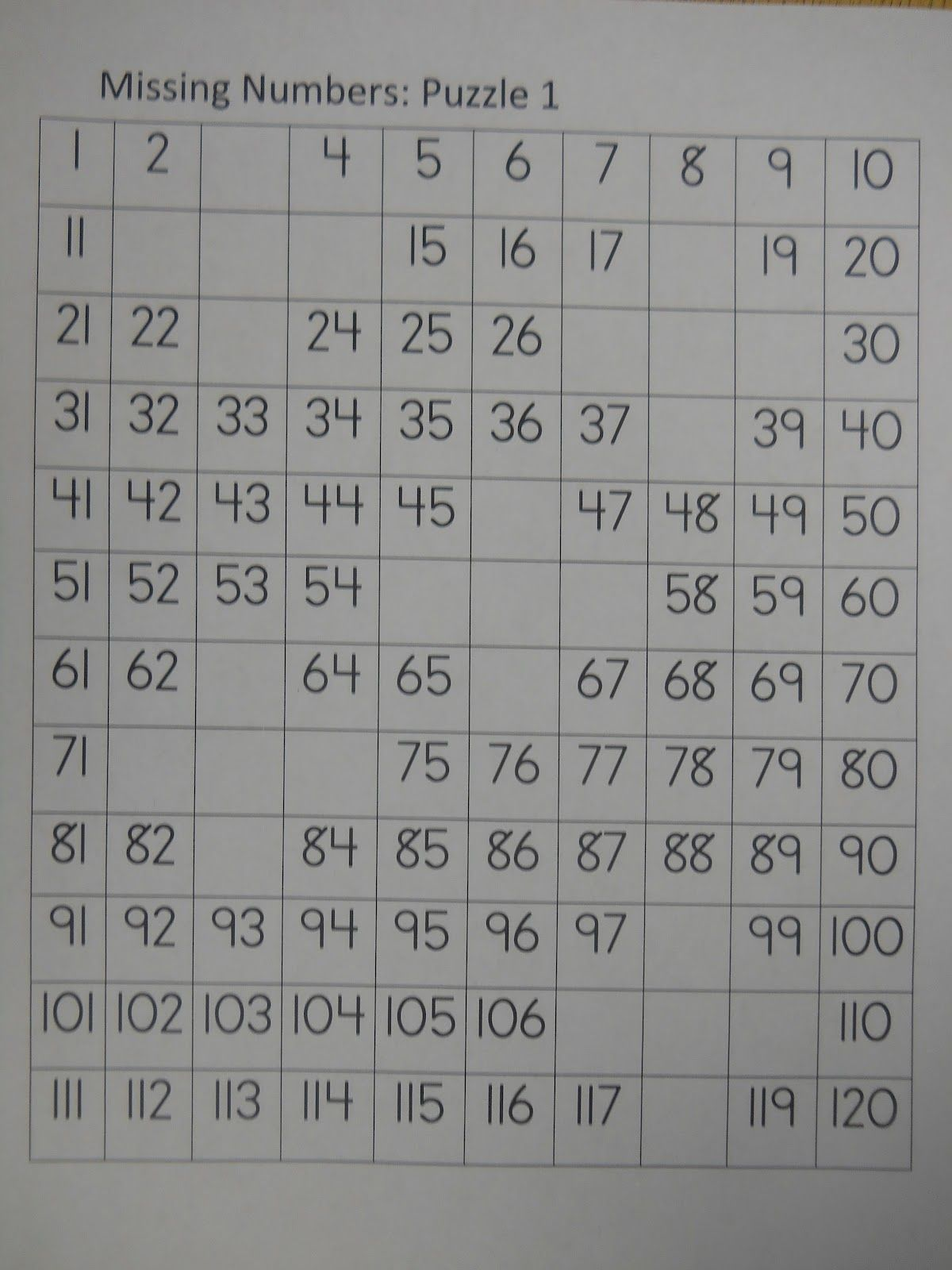 Missing Numbers Puzzle 1
