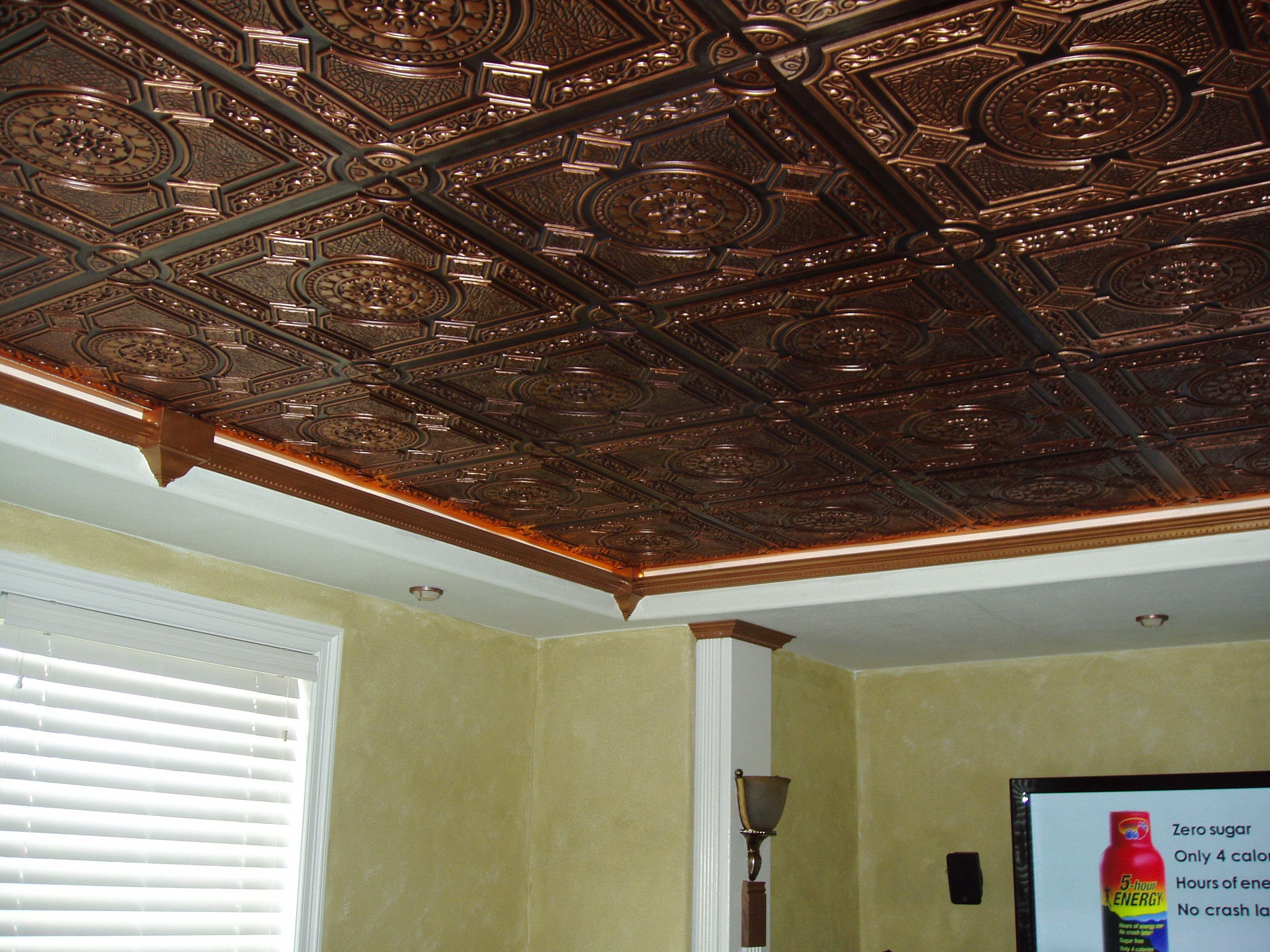 Stylish Faux Tin Ceiling Tiles Menard Modern Design In Proportions 2560 X 1920 Copper