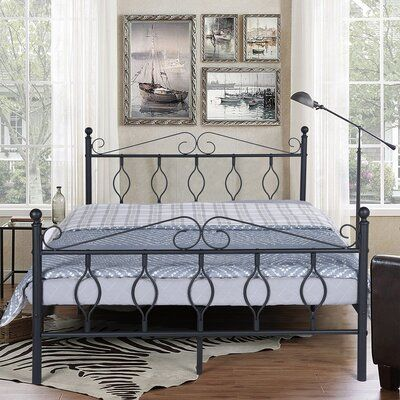 Fleur De Lis Living Perrone Bed Frame Size 37 6 H X 56 3 W X