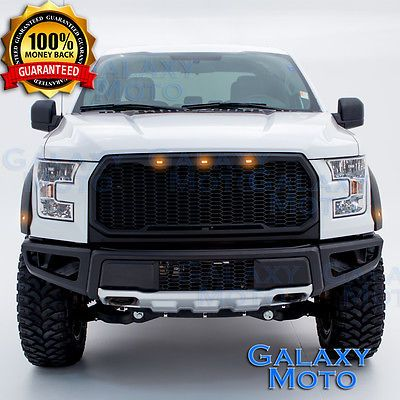 15 17 Ford F150 Raptor Conversion Style Black Front Bumper With
