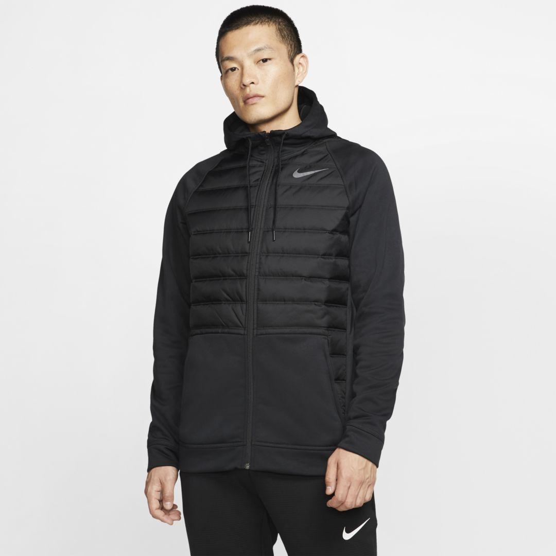 Photo of Winterisierter Full-Zip-Trainings-Hoodie von Nike Therma Men. Nike.com