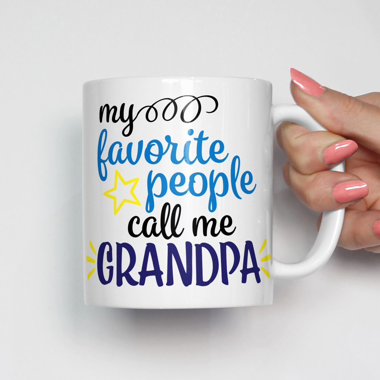 My Favorite People Call Me Grandpa Mug
