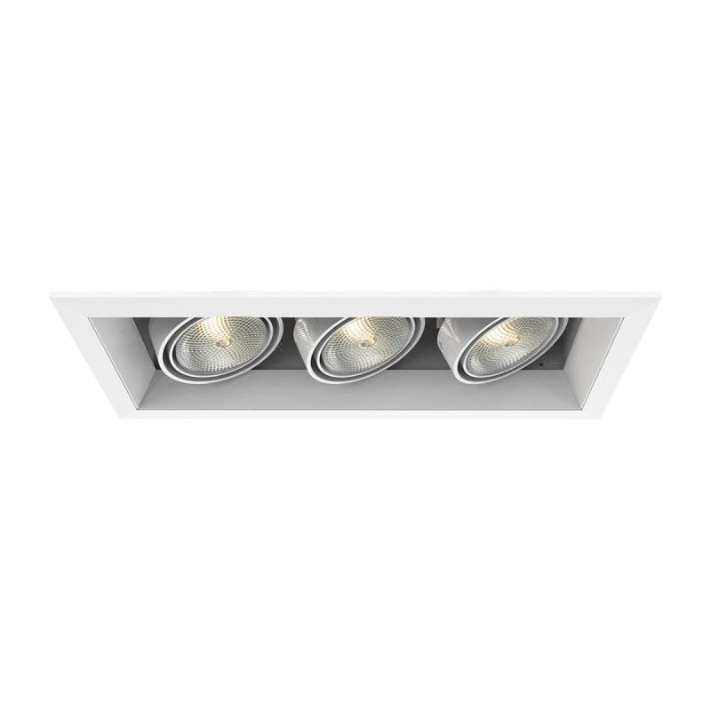 Eurofase lighting te163 multiple recessed medium e26 3 light recessed trim for white