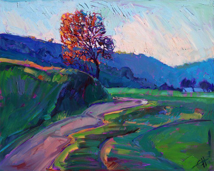 San Luis Obispo impressionism landscape oil painting by Eirn Hanson