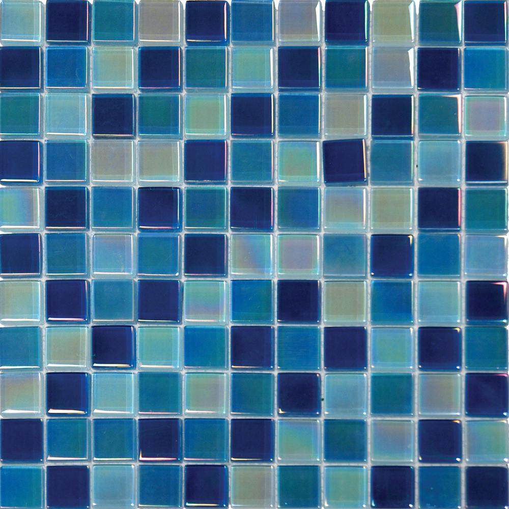 Blue Copper Glass Tile Blend -- vibrant mixture of blues with copper ...