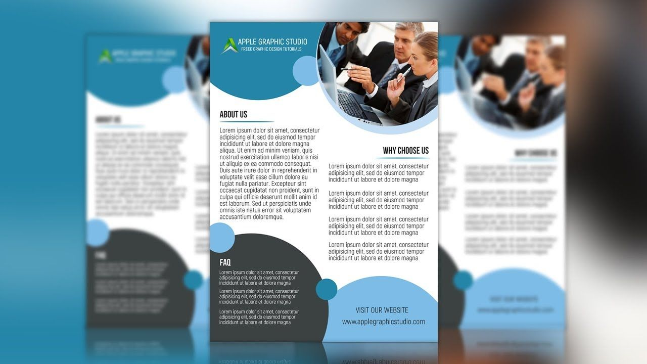 how to make a corporate flyer design photoshop tutorial flyer