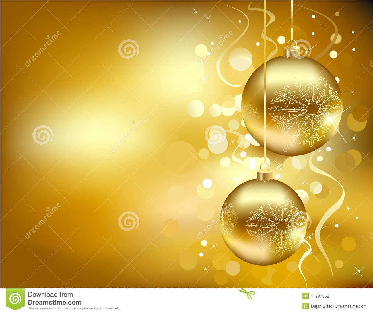 Golden Christmas Decorations From Over 47 Million High Quality Stock Photos Images Vectors Sign Up For Free Today Image 11987352