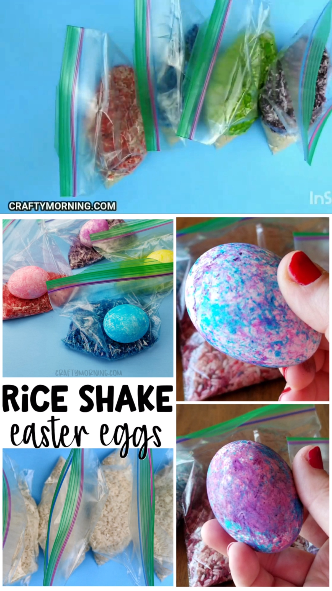Photo of Rice Shake Easter Egg Decorating