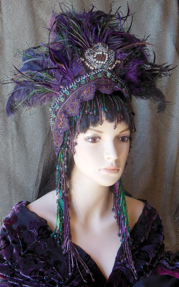 1920's Gatsby Purple Harem flapper dancer fantasy by MIMSYCROWNS