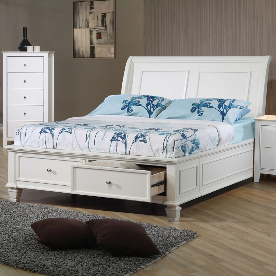 Coaster Fine Furniture Hermosa Beach Sleigh Bed Home Showroom