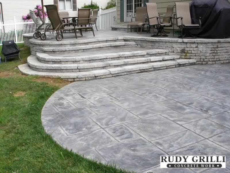 Stamped Decorative Concrete Raised Patios NJ