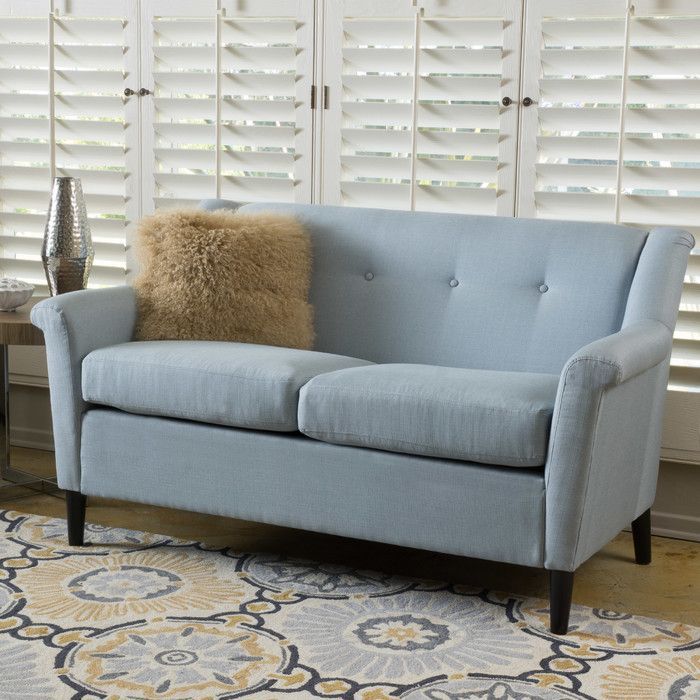 Home Loft Concepts Emily Modern Loveseat Reviews Wayfair This Color Love Seat Upholstered Sofa Green Fabric Sofa