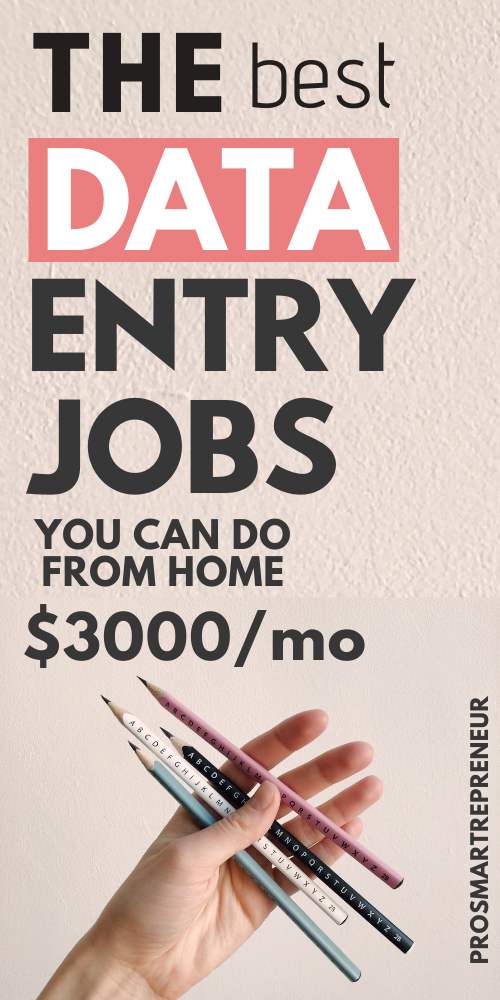 10 Data Entry Jobs To Make Money From Home At Your
