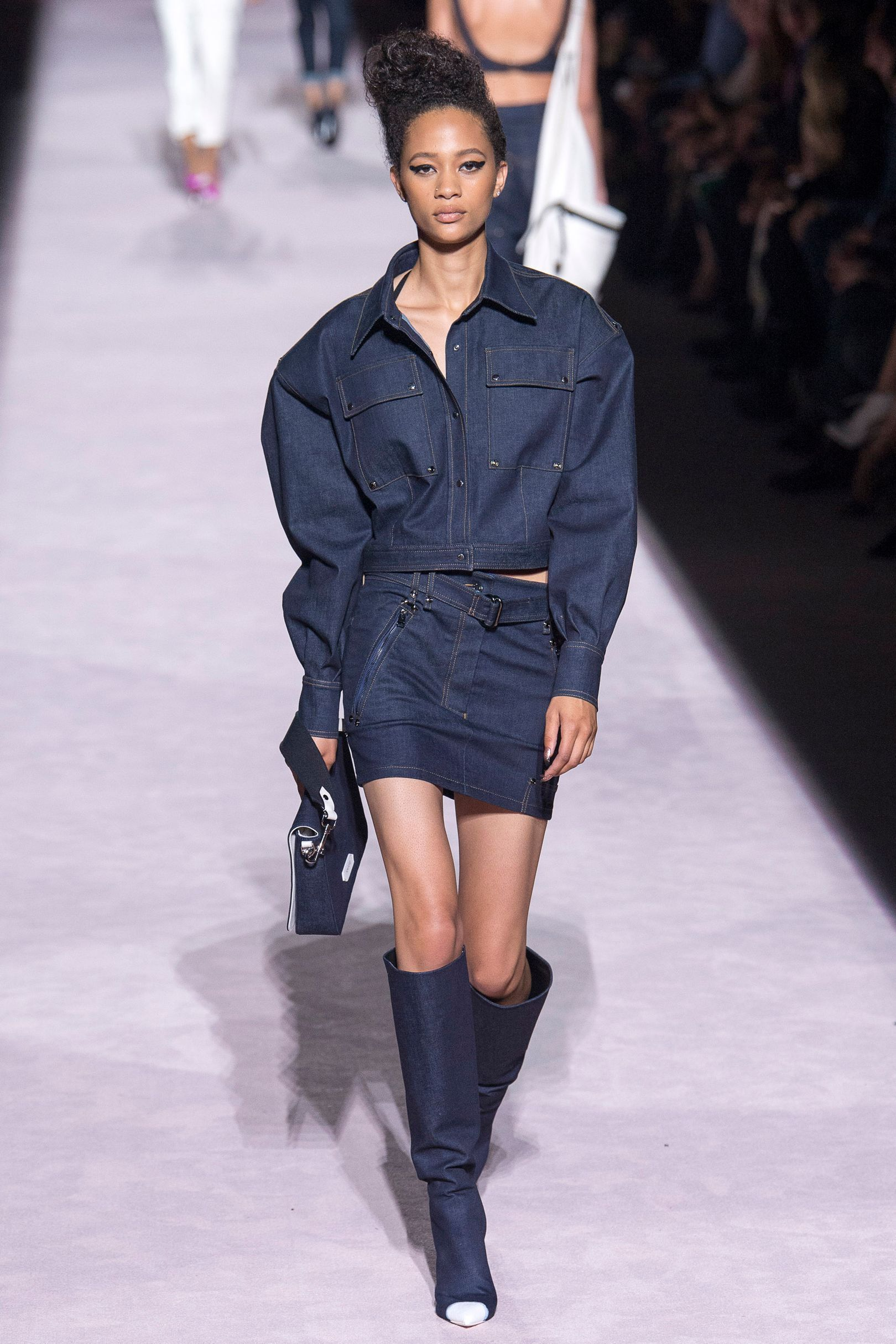 No one blinked at the marc jacobs fashion show when a model wore a - Tom Ford Spring Summer 2018 Ready To Wear