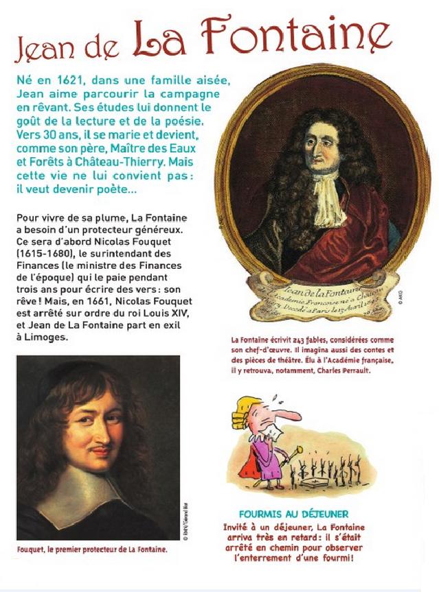 Jean De La Fontaine Chansons Pour Enfants Les Fontaines Lecture