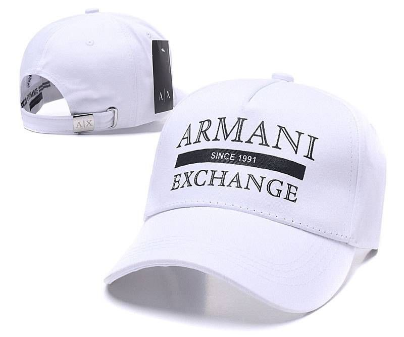 5f06f8b3aaf Armani Exchange Armani HAT Since 1991 Luxury Caps - White Armani Cap