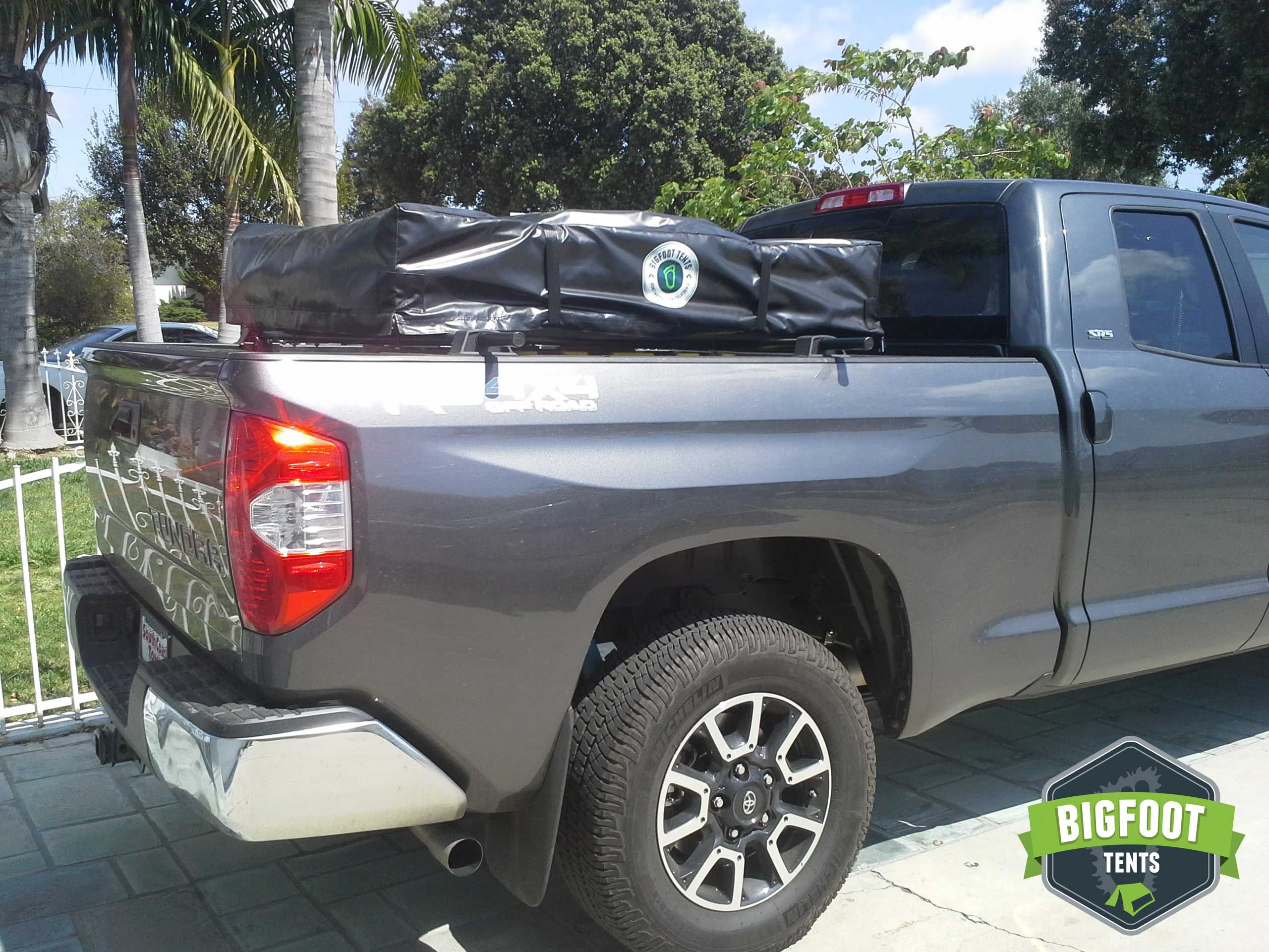 2015 Toyota Tundra with a Bigfoot Roof Top Tent mounted on a Yakima Bed Rock - & 2015 Toyota Tundra with a Bigfoot Roof Top Tent mounted on a ...