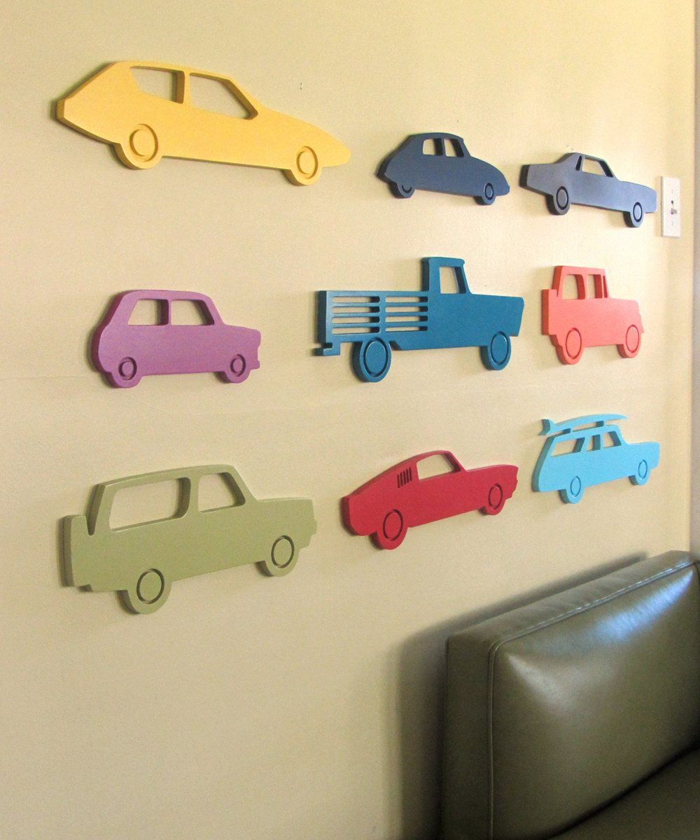 Modern car wood sign, Car silhouette, Vintage car, Boys room wall ...