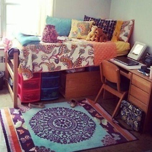 Boho dorm room- this is exactly how I want mine!