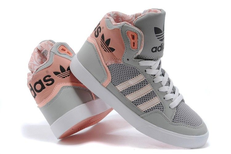43de3dd2 adidas extaball womens high tops m20173 grey pink trainers ...