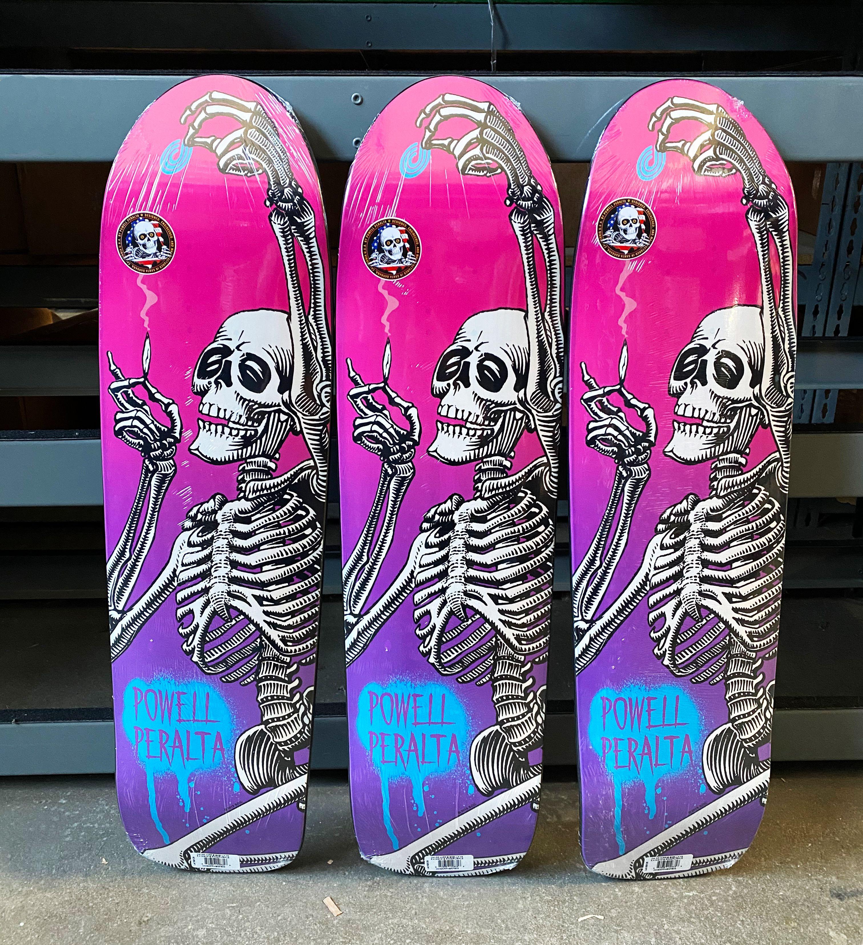 Powell Peralta Hippie Skeleton Funshape Skateboard In 2020 Skateboard Skateboard Decks Powell Peralta