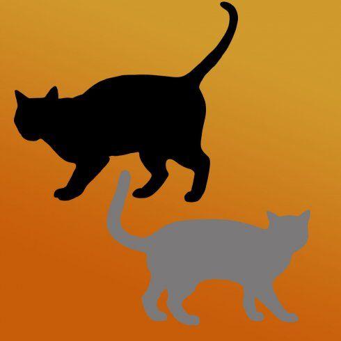 Cutting Edge Stencils - Black Cats 2-piece Craft Stencil Kit - halloween decorations black cat