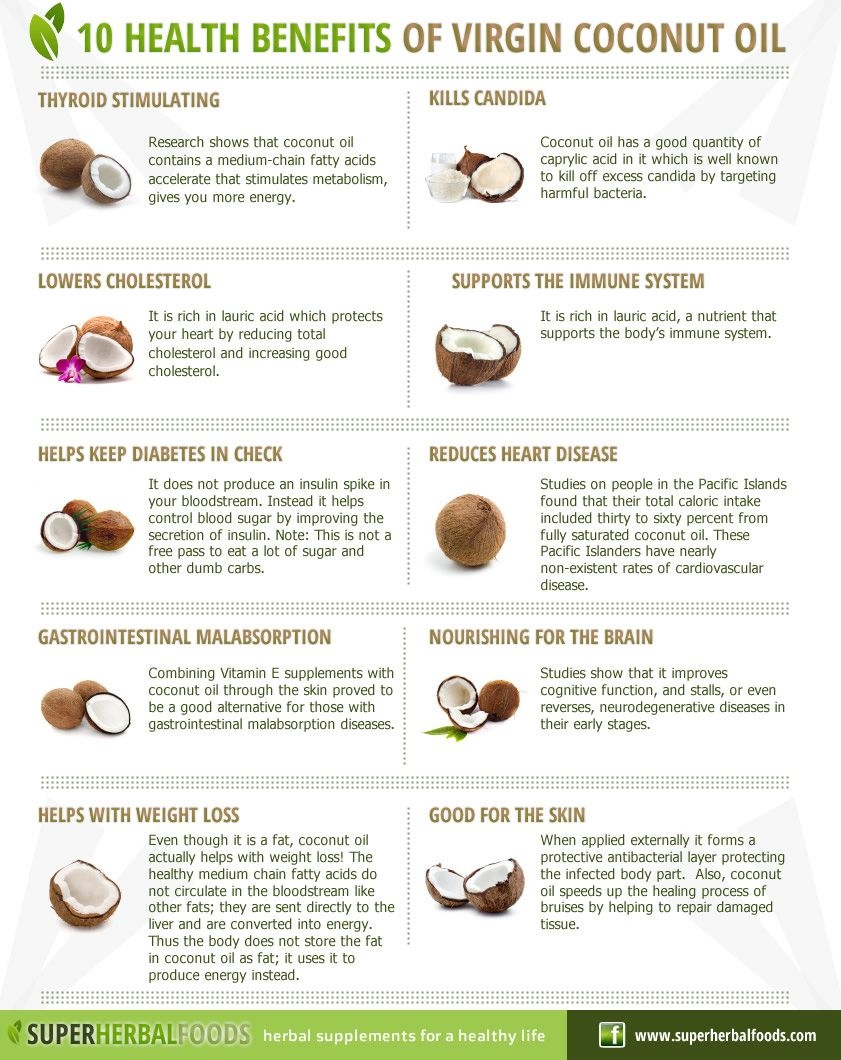 10 Health Benefits Of Virgin Coconut Oil Infographic. #CoconutOil ...