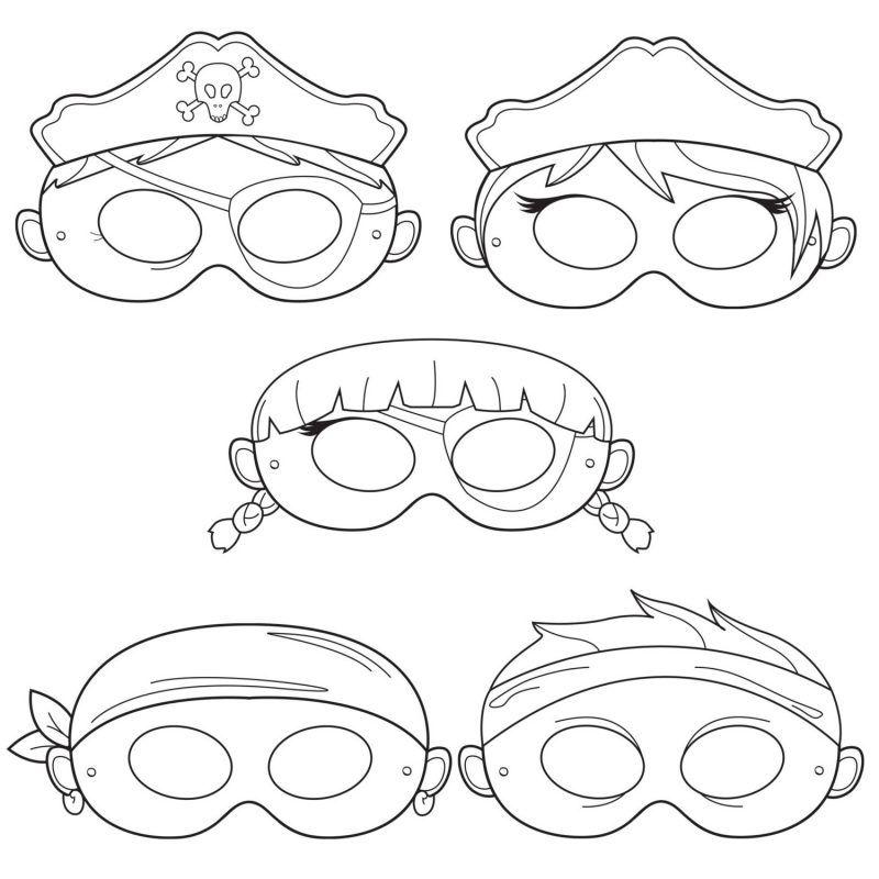 Halloween Maske basteln: 20 Schablonen zum Ausdrucken | Schablonen ...
